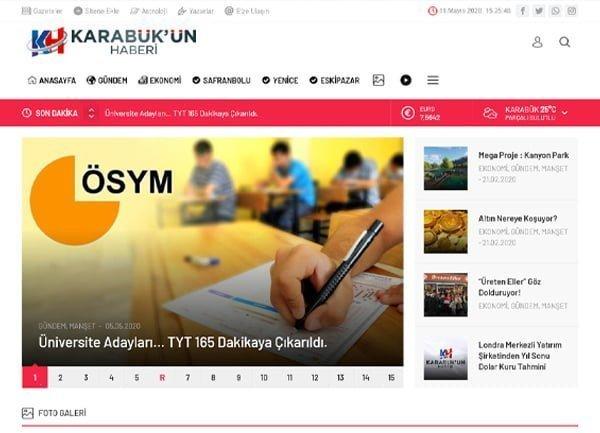 Haber Sitesi Tasarımı